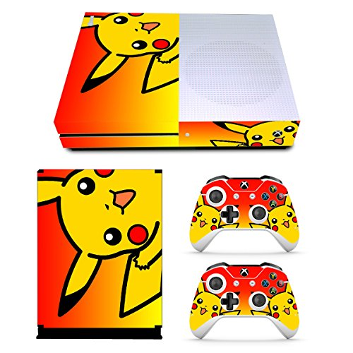 (EBTY-Dreams Inc. - Microsoft Xbox One Slim - Pikachu Pika Vinyl Skin Sticker Decal Protector)
