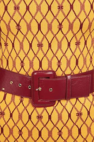 Donna Giallo Am19s88e2630 Vestito Franchi Viscosa Elisabetta vwET8qn