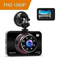 APEMAN Telecamera per Auto Dash Cam 1080P Full HD Auto Video Recorder Obiettivo Grandangolare di 170 Gradi con Lente con Rilevatore 2,7 Pollici HD Display di Movimento G-Sensor