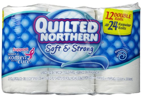 UPC 042000961660, Quilted Northern Soft & Strong Bathroom Tissue, Unscented - 12 Double Rolls = 24 Regular Rolls 12 ro