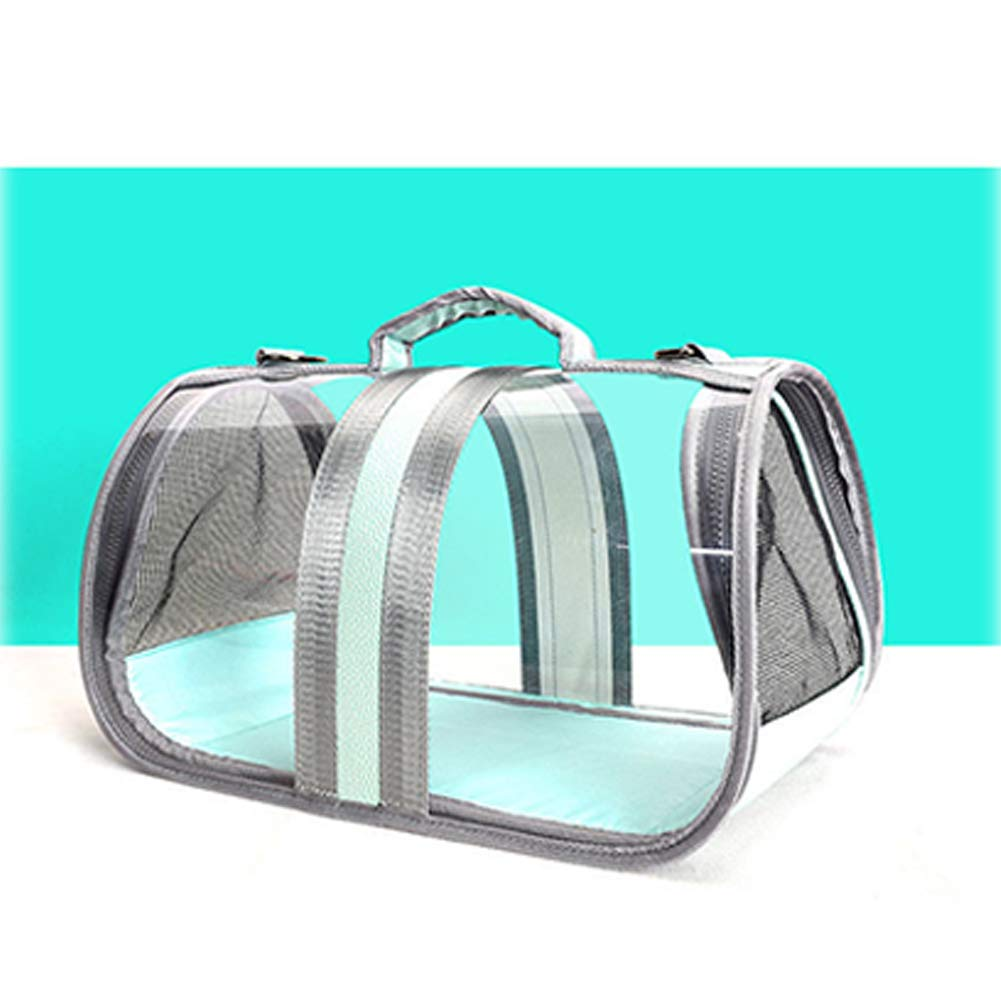 bluee XDYFF Pet Carrier Dog Cat Puppy Rabbit Transparent pet bag cats and dogs go out portable bag breathable foldable space capsule pet travel bag