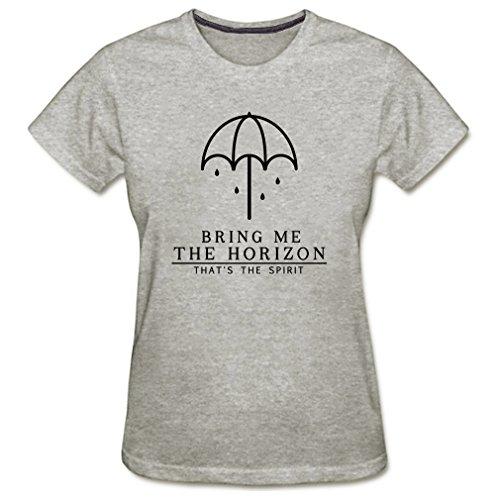 Vi-Fi Women's That's The Spirit Funny Umbrella Logo T-Shirt (Gray Medium) ()