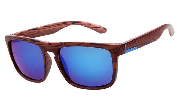 Amazon.com: Mujeres clásico – Espejo textura madera UV400 ...