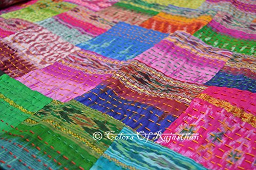 Indian Silk Throw - 4