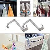 Tresbro Over Door Hanger, Door Hooks Cabinet Space-saving Clothes Hanger 10 Pcs in Bathroom Kitchen and Office