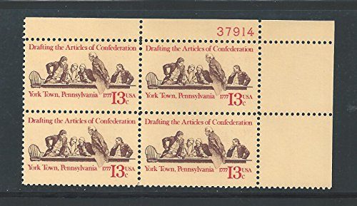 - US 1977 Articles of Confederation #1726 Plate Block of Four Stamps