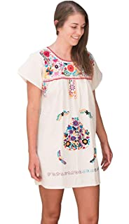 33b39aa316523 Liliana Cruz Embroidered White Peasant Blouse with Solid Color ...