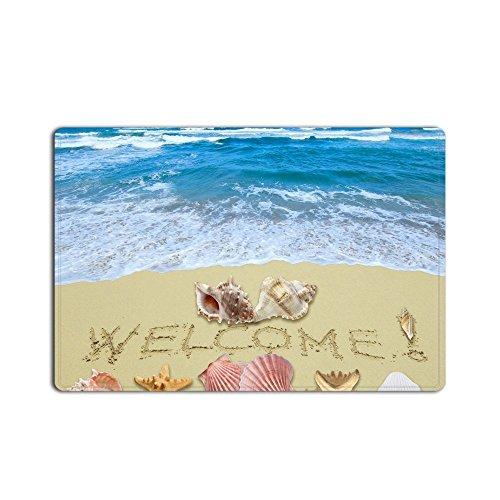 Large 18' Plush (Personalized Doormat Funny Floor Mat Short Plush Material Welcome Beach Door Mat with Non Slip Rubber Backing Decorative Indoor Door Mat 18x30 inch)
