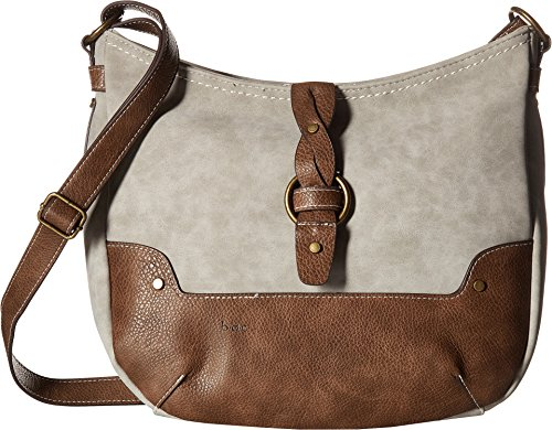 Price comparison product image b.o.c. Womens Tarrant Suede Braid Crossbody Dove / Chocolate One Size