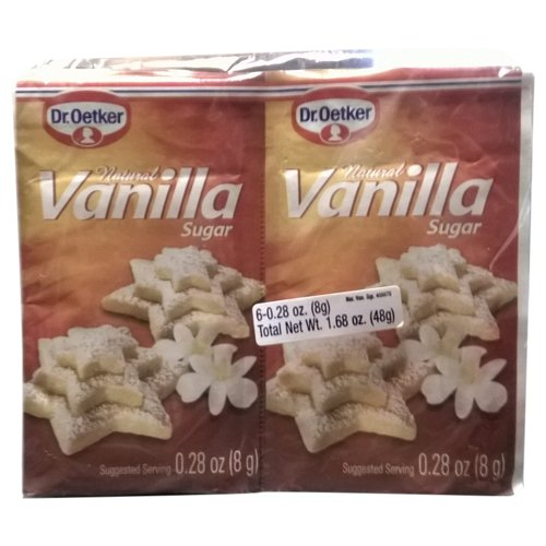 Dr. Oetker Vanilla Sugar - Natural - 6 × 8 g