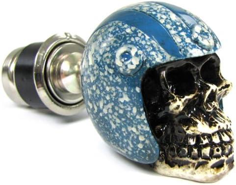 Carparts-Online 20249 Zigaretten Anz/ünder Totenkopf Skull mit Helm blau