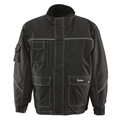 Refrigiwear Men's Waterproof Insulated ErgoForce Jacket with Reflective Piping (Black, ()