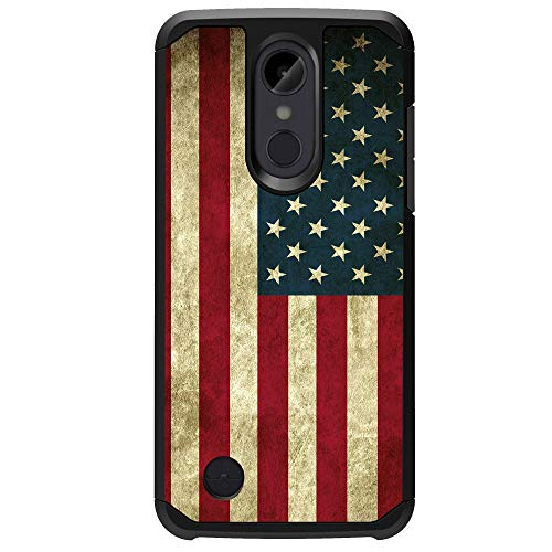 MINITURTLE Case Compatible with LG Aristo 2 / Rebel 3 LTE/Tribute Dynasty/Zone 4 Case[Impact Resistant Silicone Interior][Slim][2-Part Protection] - American Flag
