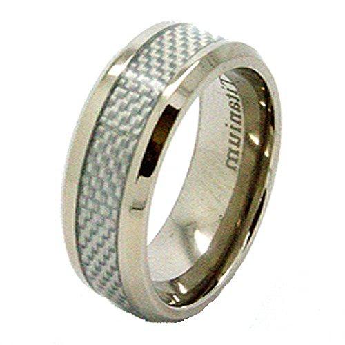 Blanc-8-mm-en-titane-avec-incrustation-en-fibre-de-carbone-Taille-de-bague-de-mariage-N-12