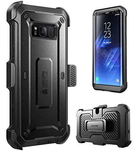 SUPCASE Galaxy S8 Case Full-body Rugged Holster Case WITHOUT Screen Protector for Galaxy S8 (2017 Release), Unicorn Beetle PRO Series - Retail Package (Black/Black) by SUPCASE (Image #1)