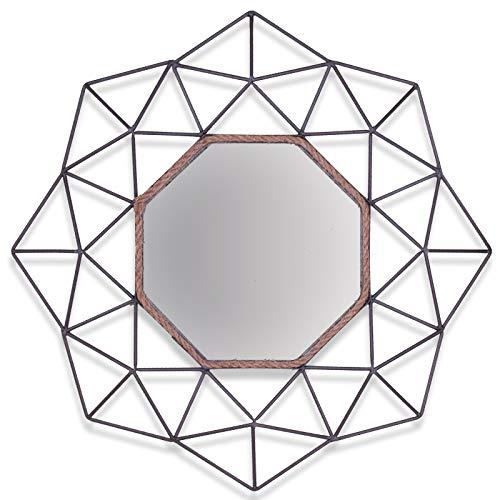Homevibes Espejo Decorativo De Pared para Comedor Dormitorio Medida 85cm Espejo Exclusivo Espejo De Acero Calidad De Excelencia