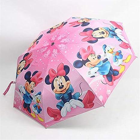 LIZHIOO Paraguas de Dibujos Animados de Disney Congelado Elsa ANN ...