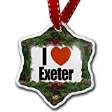 Christmas Ornament I Love Exeter region: South West England, England - Neonblond