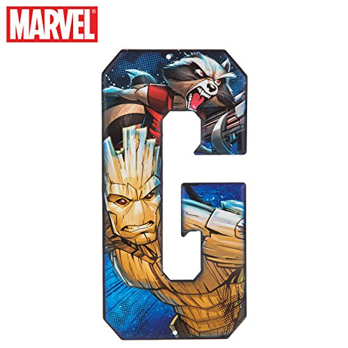 Superhero Letter Metal Wall Decor Marvel and DC Comic Letters (G) -