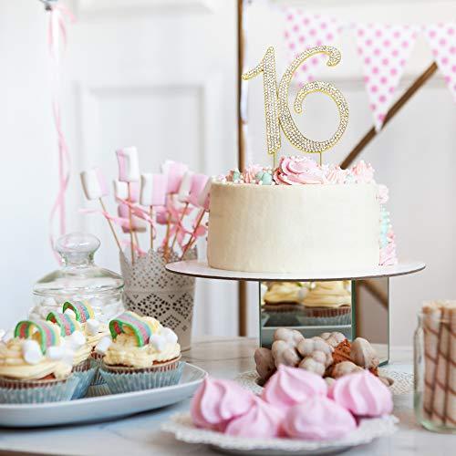 Sweet 16 GOLD Birthday Cake Topper