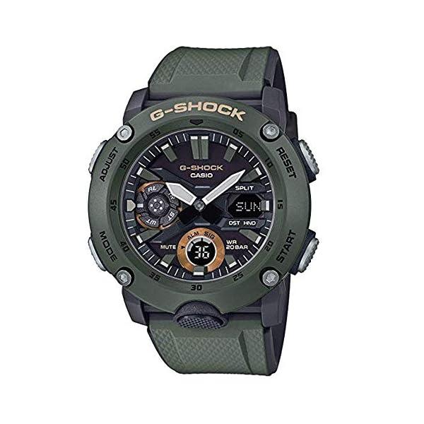 Casio Reloj Analógico-Digital para Hombre de Cuarzo con Correa en Resina GA-2000-3AER 2