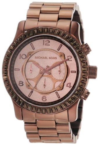 Michael Kors Women's MK5543 Runway Chocolate Chronograph Watch