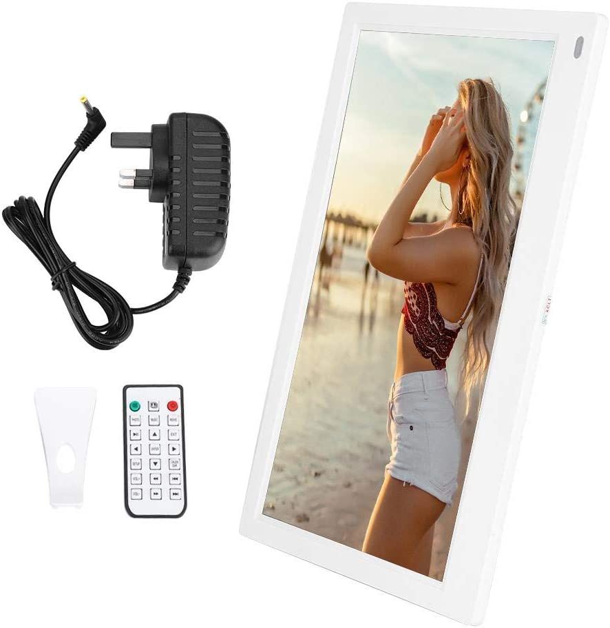 White 2 Digital Picture Frame 12.5 Screen HDMI IPS Multi-Function Digital Electric Photo Frame 1080P Remote Control,1920X1080 High Resolution