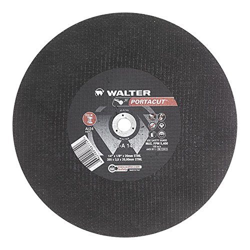 High Speed Gas Saws - Walter Portacut High Speed Cutoff Wheel, Type 1, Round Hole, Aluminum Oxide, 14