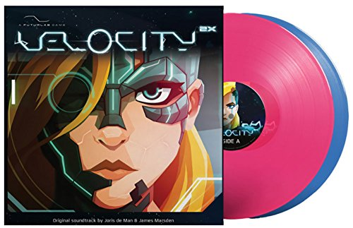 Price comparison product image Velocity 2X - Official Game Soundtrack Exclusive Neon Pink and Blue Vinyl
