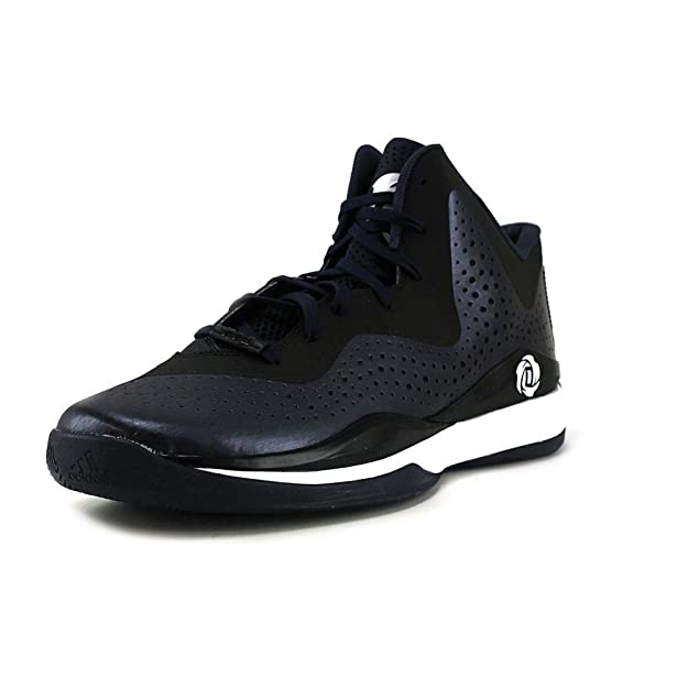 Adidas D Rose 773 III Mens Basketball Shoe 12 Navy-Black-White