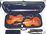 Double violin and viola hard case, arched top