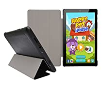 "Insignia Flex 8"" NS-P08A7100 Tablet Slim Shell Case - iShoppingdeals Ultra Slim Lightweight Tri Fold Standing Cover for Insignia Flex 8"" NS-P08A7100 Tablet 2016 Release - Black"