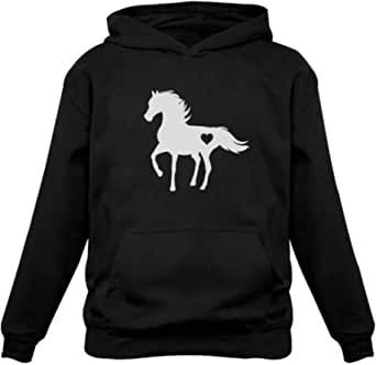 A Girl Who Loves Horses Horse Lover Gift Girls Youth Hoodie