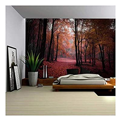 Professional Creation, Dazzling Craft, Autumn Time in a Forest Wall Mural
