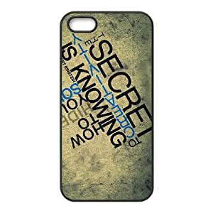 albert einstein quote 2 iPhone 5 5s Cell Phone Case Black PSOC6002625626393