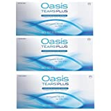 Oasis Tears Plus Lubricant Eye Drops Relief For Dry Eyes, 30 Count Box Sterile Disposable Containers (Pack of 3)