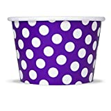 ice cream bowl paper - Purple Paper Ice Cream Cups - 8 oz Polka Dotty Dessert Bowls Perfect For Yummy Treats - Many Colors & Sizes to Make Your Party Amazing! Fast Shipping! Frozen Dessert Supplies - 50 Count