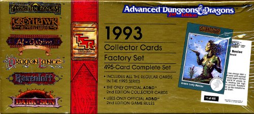 Card Collector 2 Set (1993 Collector Cards Factory Set: 495-Card Complete Set (Advanced Dungeons & Dragons, 2nd Edition))