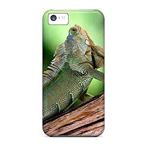 Ultra Slim Fit Hard Obliqcases Case Cover Specially Made For Iphone 5c- Chameleon