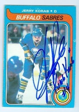 Jerry Korab autographed hockey card (Buffalo Sabres) 1979 O Pee Chee  74  inscribed dc111b5b1