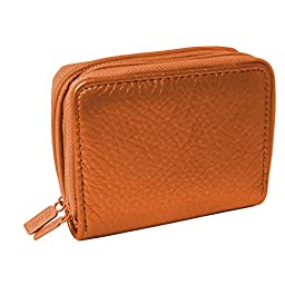 Buxton Wizard Wallet for Women - Orange