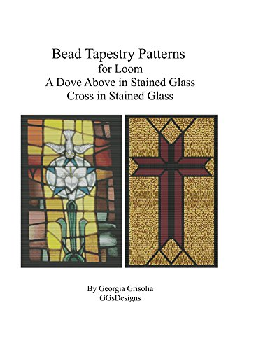 Dove Cross Stained Glass (Bead Tapestry Patterns  for Loom A Dove Above in Stained Glass Cross in Stained)