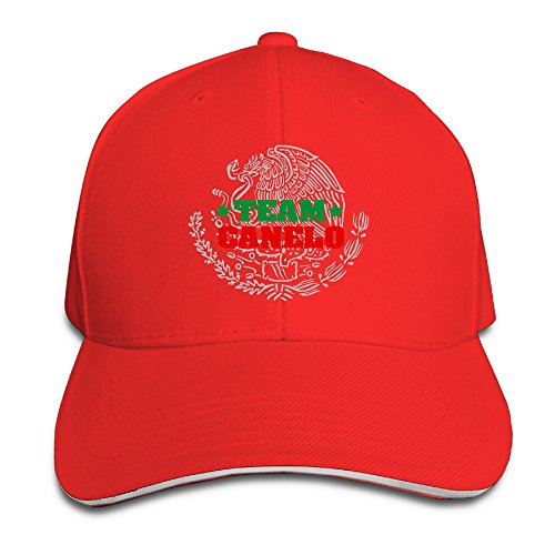 [Mooy Canelo Alvareze Sports Sandwich Cap Red] (Breaking Bad Jesse Costumes)