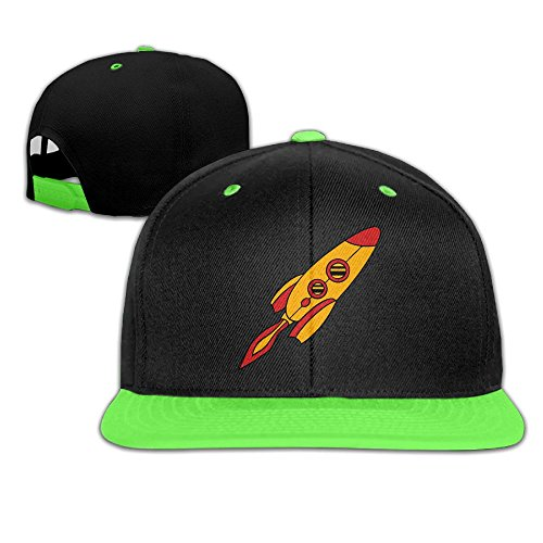 Qiop Nee Toddler Hip Hop Baseball Caps and Hat Boys' Girl Red Yellow Rocket Spaceship