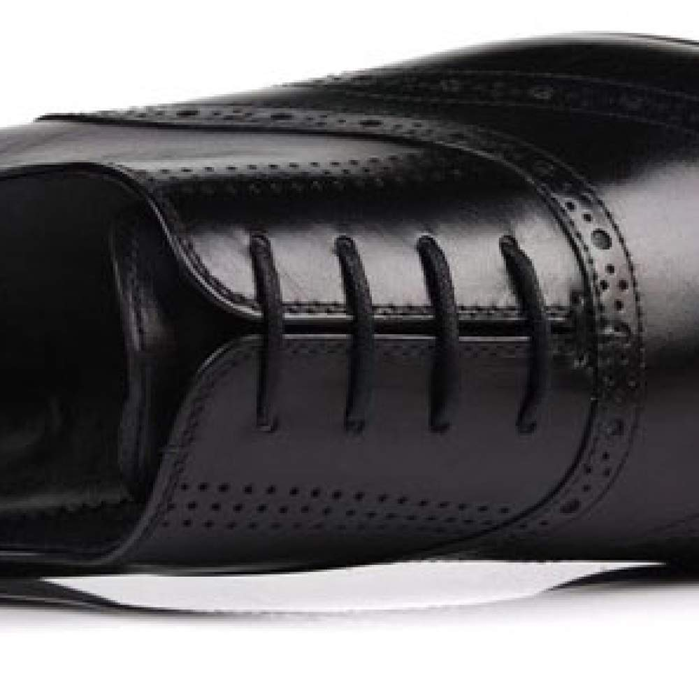 XYCSZQ Casual Männer Leder Schuhe Business Casual XYCSZQ Spitze Gummi Breathable Bequeme Geschnitzte Brock schwarz eb5a52