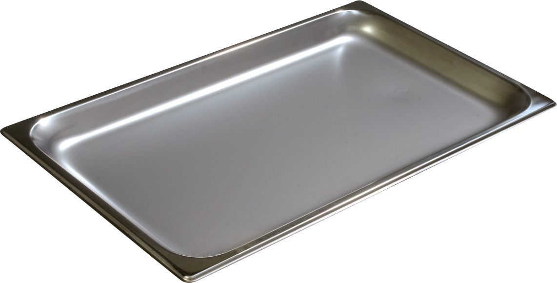 Carlisle 607001 Stainless Steel 18-8 DuraPan Light Gauge Full Size Anti-Jam Food Pan, 4.2 quart Capacity, 1'' x 12.75'' x 20.75'' (Case of 6)