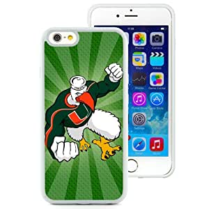 Hot Sale iPhone 6 Cover Case Atlantic Coast Conference ACC Footballl Miami (FL) Hurricanes 9 Protective Cell Phone Hardshell Cover Case For iPhone 6 4.7 Inch TPU White Unique And Durable Designed Phone Case