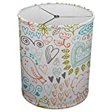 Hardback Linen Drum Cylinder Lamp Shade 8'' x 8'' x 8'' Spider Construction [ Sketch Love Drawing ]