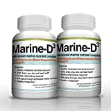 Vitamin D3 Omega 3 Fish Oil DHA 340mg Supplement by Marine Essentials (120 Soft Gel Caps)