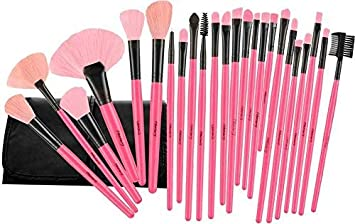 6b2e09385d91b Foolzy Brush Book ! Makeup Brush Collection (24 Pcs Pink)  Amazon.in ...